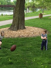 "Inde and Paul Play Football • <a style=""font-size:0.8em;"" href=""http://www.flickr.com/photos/109120354@N07/26513198254/"" target=""_blank"">View on Flickr</a>"