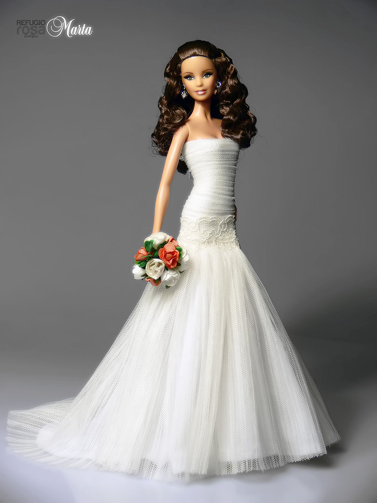 The world 39 s best photos of bride and mattel flickr hive mind for Wedding dresses for barbie dolls
