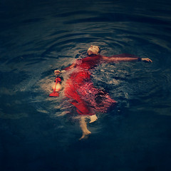 sinking lights (brookeshaden) Tags: selfportrait bay fineart melbourne docklands fineartphotography surrealphotography conceptualphotography brookeshaden