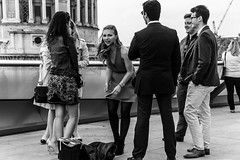 Cracking The Funnies (devil=inside) Tags: street people bw london rooftop monochrome st outside outdoors photography pauls handphotography sonya65