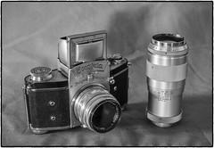 Exacta VX (NoJuan) Tags: blackandwhite bw 50mm blackwhite takumar digitalbw cameraportrait exacta cameraporn macrotakumar exactavx