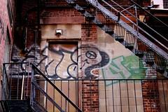 Elevated tag. (davidpompel) Tags: boston canon fireescape streettag
