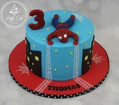 Spiderman Birthday Cake. (Ponty Carlo cakes) Tags: boys cake ganache spiderman birthdaycake sharpedge pontycarlocakes