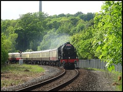 'Her indoors gets outdoors!' (peterdouglas1) Tags: anglesey britishrailways royalscot britanniabridge 46100 irishmail lmssteamtrains