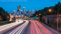 I-279 and Downtown Pittsburgh (DSC00581-Edit) (Michael.Lee.Pics.NYC) Tags: longexposure bulb night twilight nikon downtown pittsburgh cityscape sony overpass lighttrails bluehour traffictrails i279 nikkor50mmaf18d gerstway a7rm2