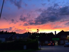 Drive-by Sunset (Marc Sayce) Tags: sunset co operative op clouds four marks hampshire