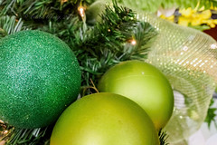 Christmas spheres or baubles (Victor Wong (sfe-co2)) Tags: christmas xmas red color tree green glitter silver ball festive season gold design shiny december shine bright symbol object decoration warmth celebration ornament sphere hanging merry ornate shape bauble