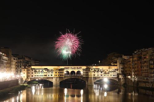 Ponte Vecchio e i Fochi di San Giovanni