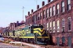 238, Stafford Springs, CT, 10-1984 (Rkap10) Tags: railroad other connecticut places albums centralvermont railroadslidescans