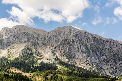 Mountain (Thomaskont) Tags: sky mountain nature clouds landscape nikon outdoor hill greece mountainside foothill d5200