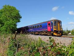 153318 & 150261 near Lelant (Marky7890) Tags: train cornwall railway gwr sprinter dmu lelant class153 fgw class150 stivesbayline 153318 150261 2a35