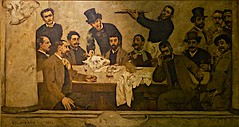 The Lion Group (1885) - Columbano Bordalo Pinheiro (1857-1929) (pedrosimoes7) Tags: portugal museum museu lisbon muse cc creativecommons mnac columbanobordalopinheiro artgalleryandmuseums museunacionaldeartecontempornea theliongroup ogrupodoleo