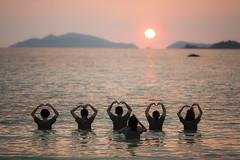 Heart shaped sunset (frfourrier) Tags: ocean sunset sea colors canon thailand asia colours heart couleurs thai 5d koh lipe 135mm