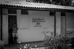 Cuban School (Ashdon McFall) Tags: door school people bw white black building window wall bush community village cuba doorway spanish cuban
