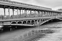Paris under Water - June 2016 (marianboulogne) Tags: blackandwhite bw paris france water monochrome seine river mono noiretblanc pary francja powd