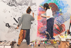 Live Painting (Design Festa) Tags: art japan illustration painting japanese tokyo artwork drawing japaneseart tokyobigsight artfestival livepainting japaneseillustration japanartfestival japaneseillustrator japaneseartfestival