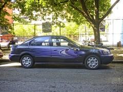 Scharfmobile (Goggla) Tags: nyc new york east village car kenny sharf street art graffiti purple kennysharf