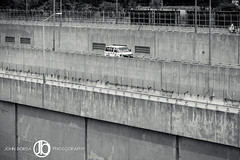 Up One Level (JohnBorsaPhoto) Tags: plant canada detail cars car electric america project river concrete highway driving power dam united border engineering canadian niagara vehicles hydro vehicle driver gorge vans states expressway van suvs suv hydroelectric motorist
