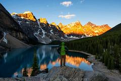 Moraine  Lake, Banff (Jaykhuang) Tags: summer canada reflection sunrise lights banff rockymountains morainelake tenpeaks selfi jayhuangphotography
