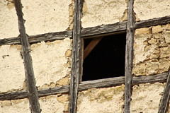 Half Timbered (gripspix (OFF)) Tags: window germany deutschland decay fenster halftimbered dettingen fachwerk archiv badenwrttemberg zerfall horb priorberg 20160404