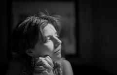Chiara (AndreArma) Tags: leica light portrait blackandwhite london film monochrome voigtlander hp5 ilford m6 nokton
