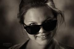 Angelina (koliru) Tags: portrait people monochrome beauty sepia canon blackwhite bravo 6d ef70200mm
