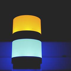 168   366   V (Randomographer) Tags: blue light yellow composition amber glow glare bright radiance illumination device gleam glowing blaze beacon shining dazzle brightness gleaming luminescence luster brilliance 168 illuminate conspicuous luminosity 366 project366
