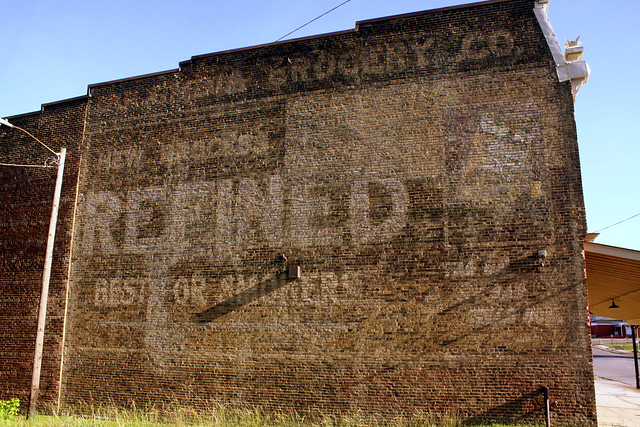 Faded Tobacco wall ad - Columbia, TN
