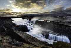 A Landscape Masterpiece (cristiancoser) Tags: travel light water beautiful clouds sunrise river landscape waterfall iceland rays cloudscape