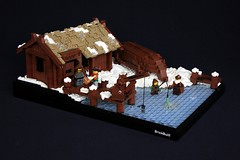 Nordheim Docks (jsnyder002) Tags: winter snow ice landscape dock lego crane interior warehouse moc nordheim mitgardia mitgardian