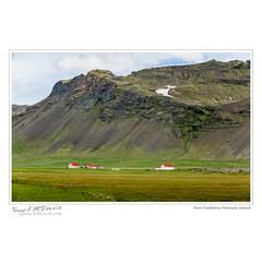 Farm, Snfellsnes Peninsula, Iceland (Terry McDonald - www.luxborealis.com) Tags: green landscape scenery farm cliffs pasture volcanic sjk escarpment lavafield stjohnskilmarnockschool iceland2016