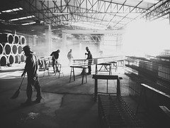 End of day (Fistarol) Tags: brazil people building industry brasil work concrete corporate team construction industrial steel union group hard end livre partnership teamwork concreto precast