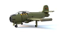 Thunderstriker Ground Attack Aircraft (John Moffatt) Tags: lego plane fighter thundersuffix thunderstriker jet cold war ldd