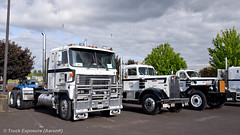 Osborne Trucking Co Lineup (Truck Exposure) Tags: coe cabover