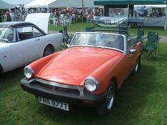 1978 MG. (Bennydorm) Tags: auto england orange cars car vintage automobile retro mg vehicle british motor 1978 autos motorshow madeinengland arancia crooklands