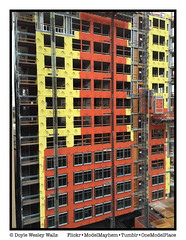 Composition 3162 in Yellow and Red (Doyle Wesley Walls) Tags: red color building lines yellow vertical floors construction shapes structure lagniappe 3162 smartphonephoto iphonephoto doylewesleywalls