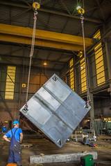 Kantelen van de liftschacht (G. Warrink) Tags: architecture construction industrial steel welding engineering watchtower appelscha bosberg heuvelmanibis