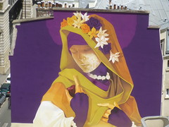 Inti : cration en cours (26 juin 2016) (Archi & Philou) Tags: streetart workinprogress wip inti madone paris13 paintedwall murpeint travailencours itinerrance