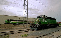 BN's Defining Locos in KC (Jeff Carlson_82) Tags: railroad train mac railway bn mo kansascity missouri kc railfan bnsf 1961 520 e9 rebuilt burlingtonnorthern emd sd402 burlingtonnorthernsantafe slrg cascadegreen midamericacar e9am iowapacific