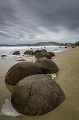 Moeraki Boulders #11 (oldad57) Tags: travel sea newzealand pentax boulder shore southisland k5