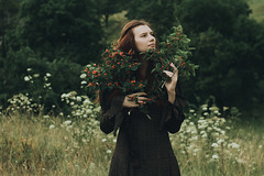 The epilogue to the book story (Alina Autumn) Tags: new flowers portrait flower color tree green art history love nature girl beautiful forest vintage photo hands photographer natural russia outdoor atmosphere beaty redhead melancholy tragic tenderness tragedic fragility