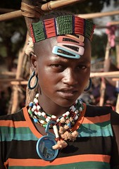 Hamar Woman (Rod Waddington) Tags: africa african afrika afrique ethiopia ethiopian ethnic etiopia ethnicity ethiopie etiopian thiopien hamar hamer tribe traditional tribal omovalley omo omoriver beads costume portrait people outdoor