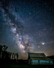 milky way - Explore (Marvin Bredel) Tags: night barn stars nationalpark explore wyoming jacksonhole milkyway grandtetonnationalpark mormonrow antelopeflats marvinbredel thomasmoulton