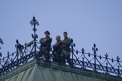 Hello Boys, at the ready on the east block roof (Stephen Gardiner) Tags: ottawa ontario 2016 canadaday parliamenthill canada july1 celebration pentax k3ii 100300