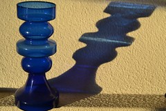 Blue (hcorper) Tags: flickrlounge weeklytheme blue vase light shadow nikond3100 quirkyunusual 116in2016
