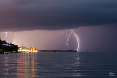 Foudre sur le lac Lman (MarKus Fotos) Tags: orage orages foudre eclair clair evian clairs eau extrieur lman leman lac chablais