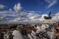 Terrazza delle quadrighe2 (ansacariofoto) Tags: italy rome roma architecture tokina hdr vittoriano lovelycity atx116prodx tokina1116 nikond5000