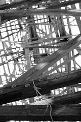Goat Canyon Trestle - April 2013 084 B&W (JHRoundy) Tags: railroad trestle trekking hiking rail backpacking anzaborrego anzaborregodesert anzaborregostatepark goatcanyontrestle woodentrestle
