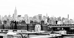 New York City (Surrealplaces) Tags: newyorkcity blackandwhite skyline cityscape pano brookylnbridge