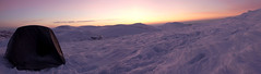 Winter Camp (seamus_0) Tags: winter sunset snow sunrise munros scottishhighlands carn corm carngorm carnmairg cloudsstormssunsetssunrises